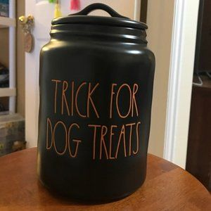 Rae Dunn Trick For Dog Treats Canister - NWT